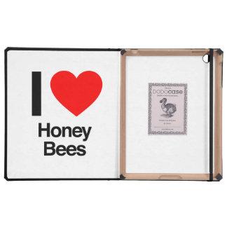i love honey bees iPad folio case