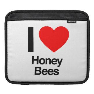 i love honey bees iPad sleeves