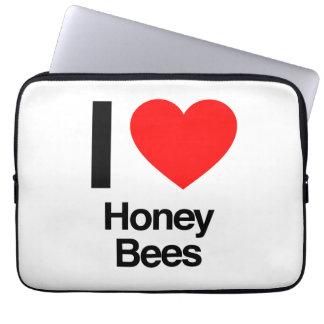 i love honey bees laptop computer sleeve