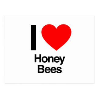 i love honey bees postcards
