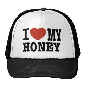 I LOVE HONEY MESH HATS