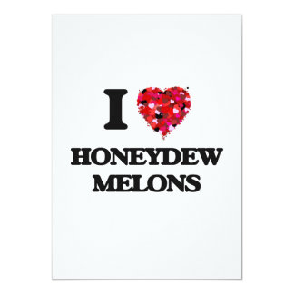 I love Honeydew Melons 5x7 Paper Invitation Card