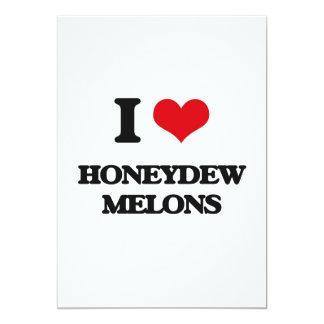 I love Honeydew Melons 5x7 Paper Invitation Card