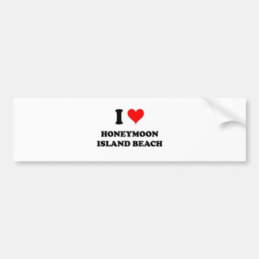 I Love Honeymoon Island Beach Florida Bumper Sticker