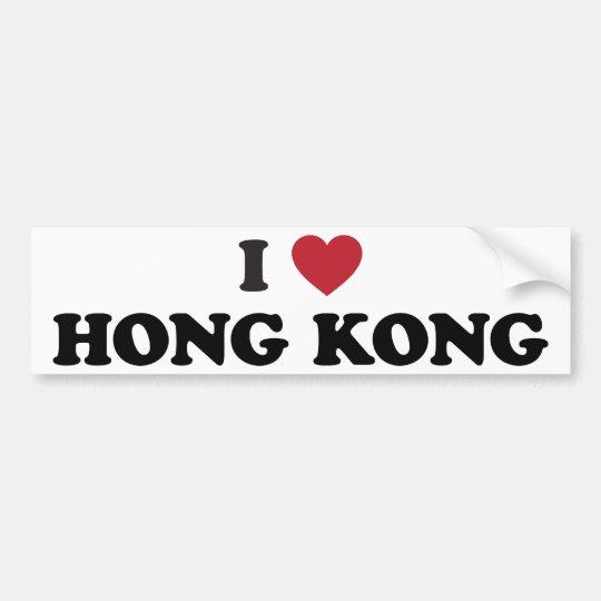 I Love Hong Kong Bumper Sticker
