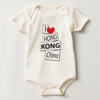 I Love Hong Kong China Baby Bodysuit