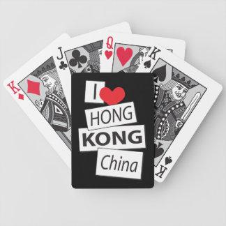 I Love Hong Kong China Bicycle Playing Cards