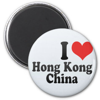 I Love Hong Kong+China Fridge Magnet