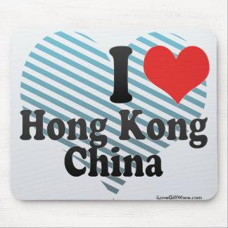 I Love Hong Kong+China Mouse Pad