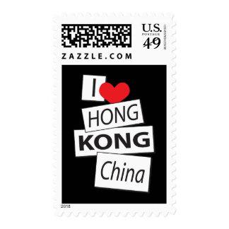 I Love Hong Kong China Postage