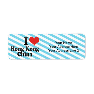 I Love Hong Kong+China Return Address Label