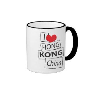 I Love Hong Kong China Ringer Mug