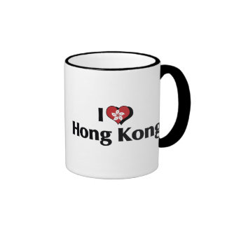 I Love Hong Kong Flag Ringer Mug