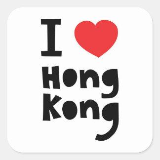 I love Hong Kong Square Sticker