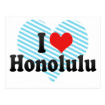 I Love Honolulu Postcards