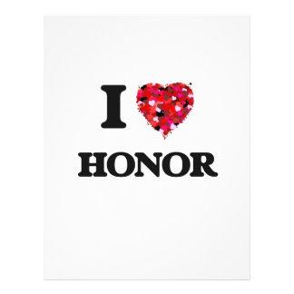 "I Love Honor 8.5"" X 11"" Flyer"