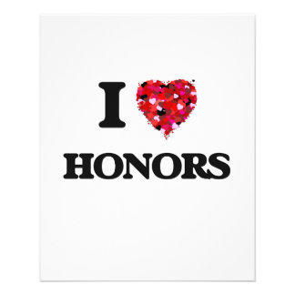 """I Love Honors 4.5"""" X 5.6"""" Flyer"""