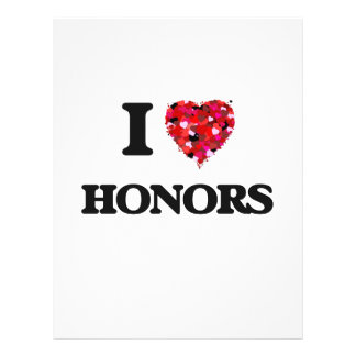 """I Love Honors 8.5"""" X 11"""" Flyer"""
