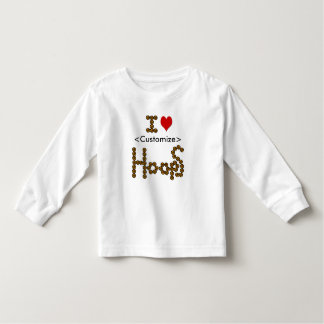 I love hoops customize toddler t-shirt