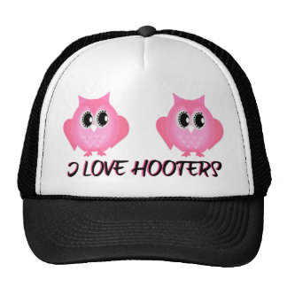 I Love Hooters Breast Cancer Awareness Hat
