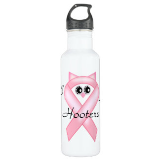 I Love Hooters Breast Cancer Awareness Stainless Steel Water Bottle