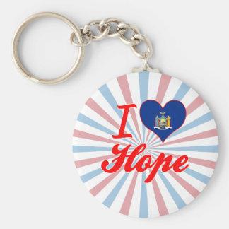 I Love Hope, New York Keychain