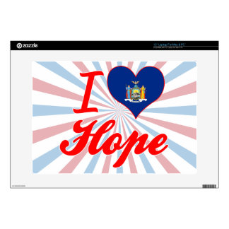 I Love Hope, New York Decals For Laptops