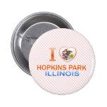 I Love Hopkins Park, IL Buttons