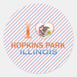 I Love Hopkins Park, IL Round Sticker