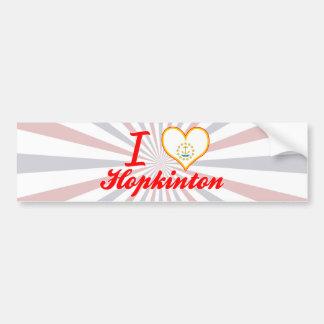 I Love Hopkinton, Rhode Island Bumper Sticker
