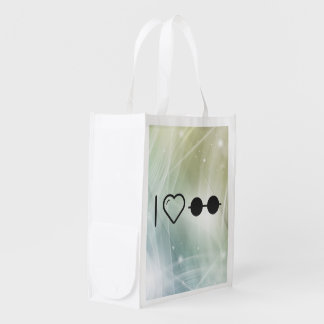 I Love Horizontals Grocery Bag
