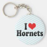 I Love Hornets Key Chains