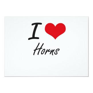 I love Horns 5x7 Paper Invitation Card