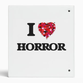 I Love Horror 3 Ring Binder