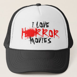 I love horror movies hat for film fans