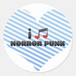 I Love Horror Punk Round Sticker
