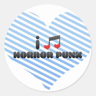 I Love Horror Punk Classic Round Sticker