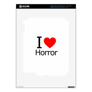 I Love Horror Skins For iPad 3