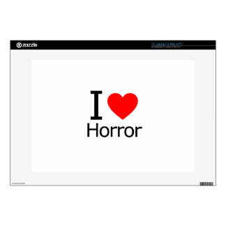 I Love Horror Decal For Laptop