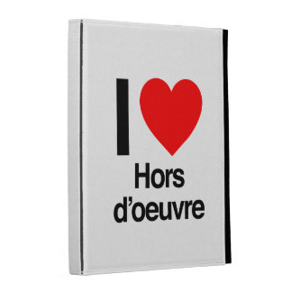 i love hors d'oeuvre iPad case