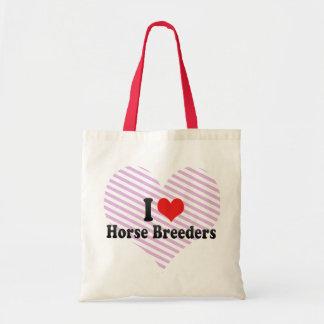 I Love Horse Breeders Tote Bags