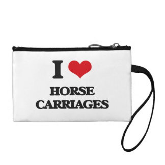 I love Horse Carriages Coin Purse