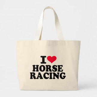 I love Horse racing Canvas Bag