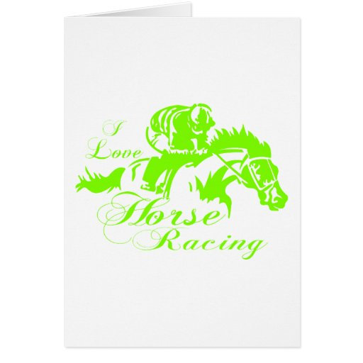 I LOVE HORSE RACING CARDS