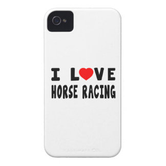 I Love Horse Racing iPhone 4 Cases