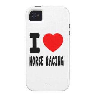 I Love Horse Racing Vibe iPhone 4 Cases