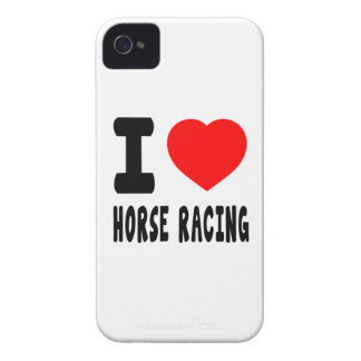 I Love Horse Racing Case-Mate iPhone 4 Cases