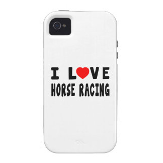 I Love Horse Racing Vibe iPhone 4 Covers
