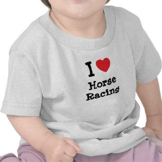 I love Horse Racing heart custom personalized Shirt