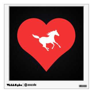 I Love Horse Racing Icon Wall Graphics